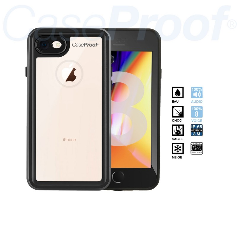 coque anti choc ski iphone 8 impermeable