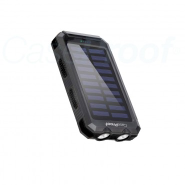 Solar Power Bank - Waterproof & Shockproof