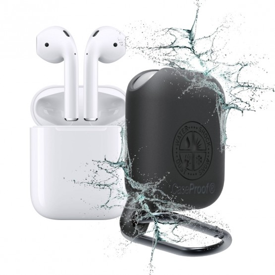buy popular f10de 00a19 AirPods -Shockproof Waterproof Case for AirPods - Black