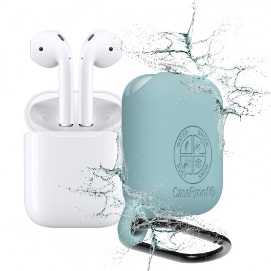 Airpods - Waterproof ShockProof Cover for Airpods - Celadon Blue