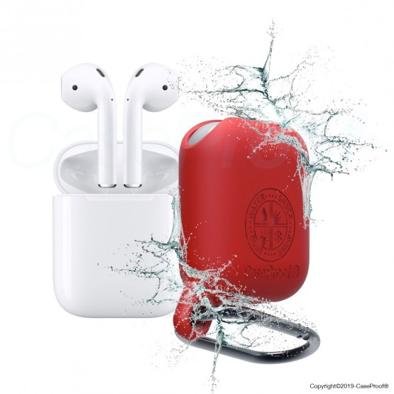 Airpods - Waterproof ShockProof Red Cover
