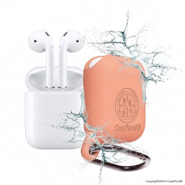 Airpods - Housse de protection Antichoc Etanche en silicone - Papaye