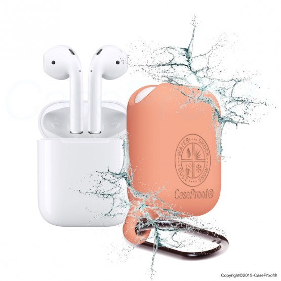 Airpods - Shockproof Waterproof Case Papaye
