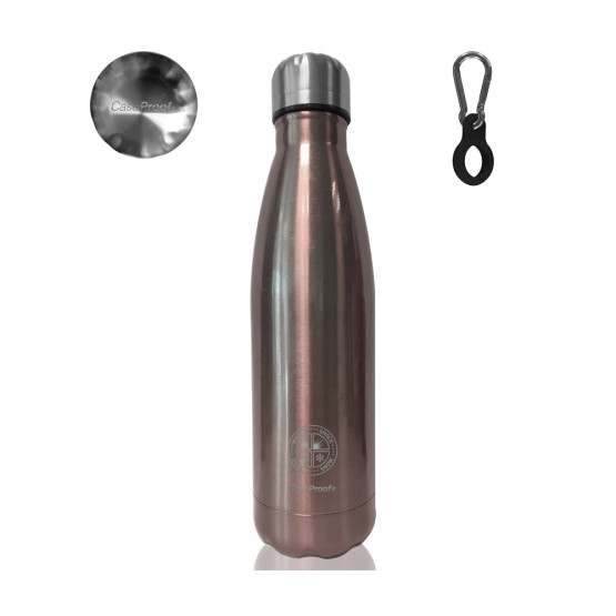 Insulated Bottle in Stainless steel 500 ml - Pink glossy metal