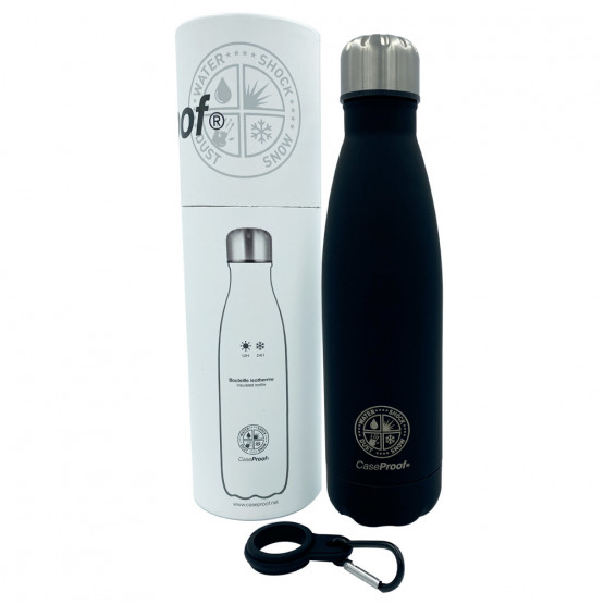 Insulated Bottle in Stainless steel 500 ml - Black Mate