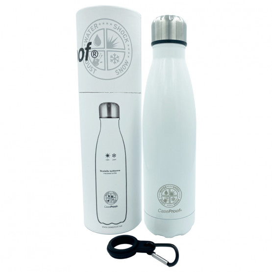 Insulated Bottle in Stainless steel 500 ml - Glossy White