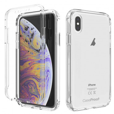 iPhone XS - Protection 360° Anti-Choc Transparent